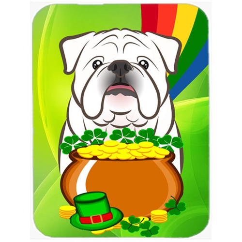 Carolines Treasures BB1964MP White English Bulldog St. Patricks Day Mouse Pad Hot Pad or Trivet