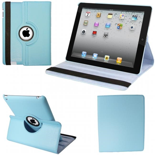 Natico 60-I360-LBL IPAD 360 CASE FAUX LIGHT BLUE