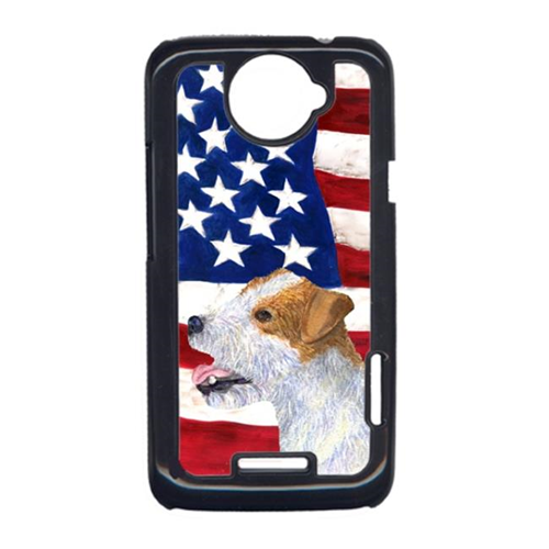 Carolines Treasures SS4031HTCONE USA American Flag With Jack Russell Terrier HTC One X Cell Phone Cover