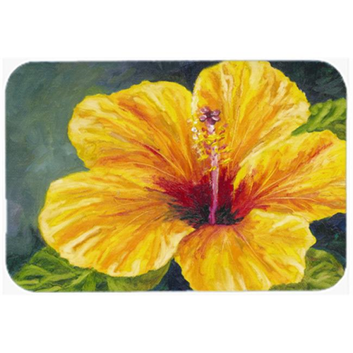 Carolines Treasures TMTR0321MP Yellow Hibiscus by Malenda Trick Mouse Pad Hot Pad or Trivet