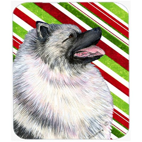 Carolines Treasures SS4557MP Keeshond Candy Cane Holiday Christmas Mouse Pad Hot Pad Or Trivet