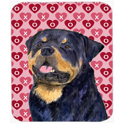 Carolines Treasures SS4524MP Rottweiler Hearts Love And Valentines Day Mouse Pad Hot Pad Or Trivet
