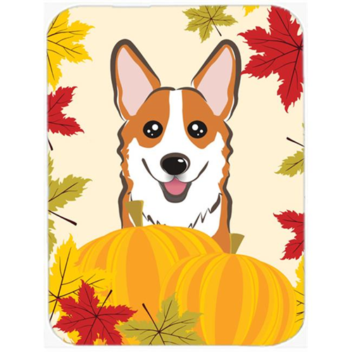 Carolines Treasures BB2060MP Red Corgi Thanksgiving Mouse Pad Hot Pad or Trivet