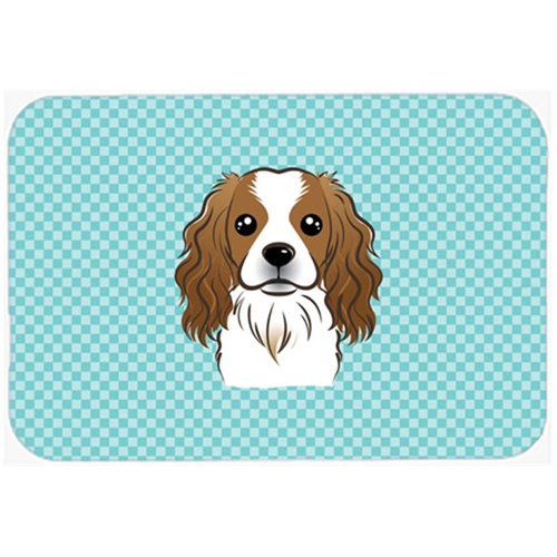 Carolines Treasures BB1162MP Checkerboard Blue Cavalier Spaniel Mouse Pad Hot Pad Or Trivet 7.75 x 9.25 In.