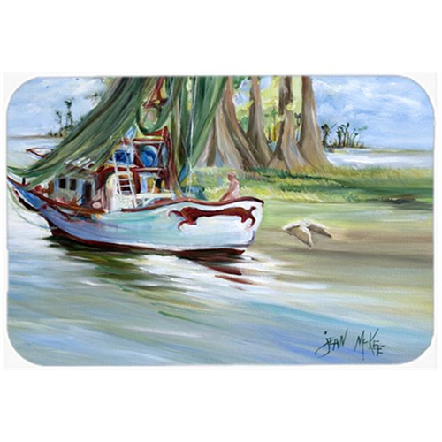 Carolines Treasures JMK1060MP Jeannie Shrimp Boat Mouse Pad Hot Pad & Trivet