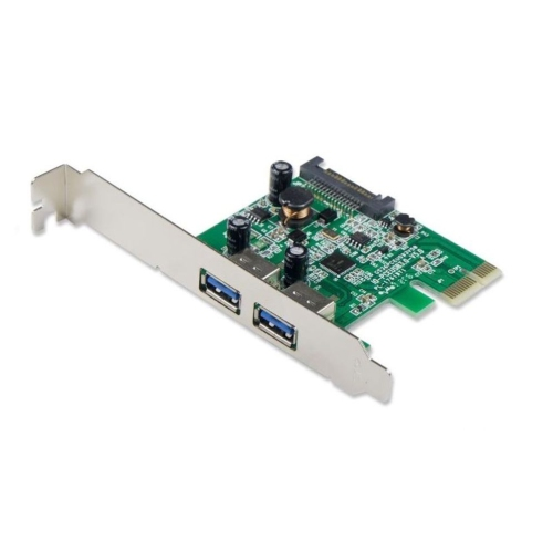 SYBA SY-PEX20124 USB 3.0 2-port PCI-Express x 1 Ver 2.0 Controller Card with SATA Power Connector
