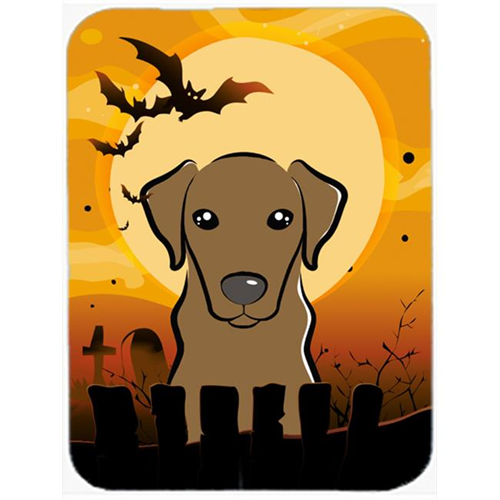 Carolines Treasures BB1792MP Halloween Chocolate Labrador Mouse Pad Hot Pad & Trivet