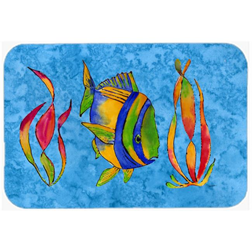 Carolines Treasures 8713MP Troical Fish And Seaweed On Blue Mouse Pad Hot Pad & Trivet