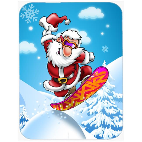 Carolines Treasures APH6388MP Christmas Santa Claus Snowboarding Mouse Pad Hot Pad or Trivet