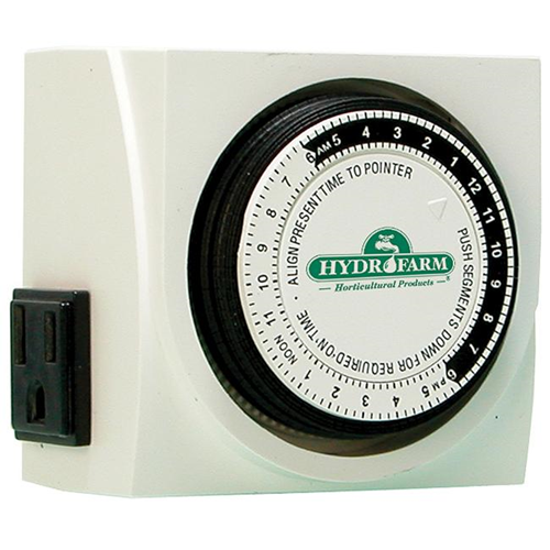 Hydrofarm 15 Amp Dual Outlet Grounded Timer TM01015D