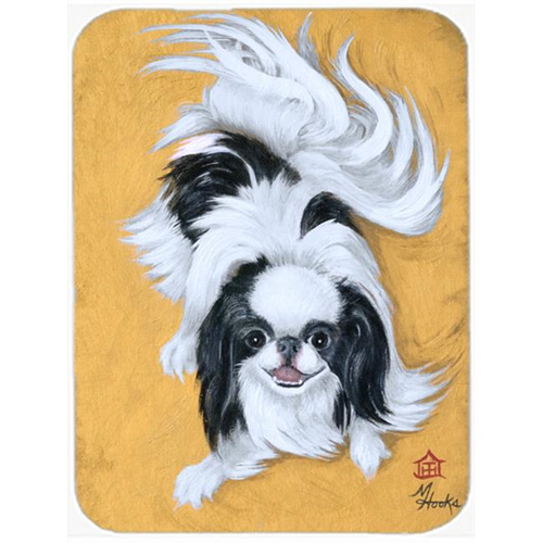 Carolines Treasures MH1034MP Japanese Chin Black White Play Mouse Pad Hot Pad & Trivet