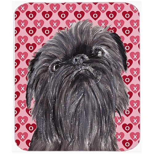 Carolines Treasures SC9559MP 7.75 x 9.25 In. Brussels Griffon Valentines Love Mouse Pad Hot Pad or Trivet