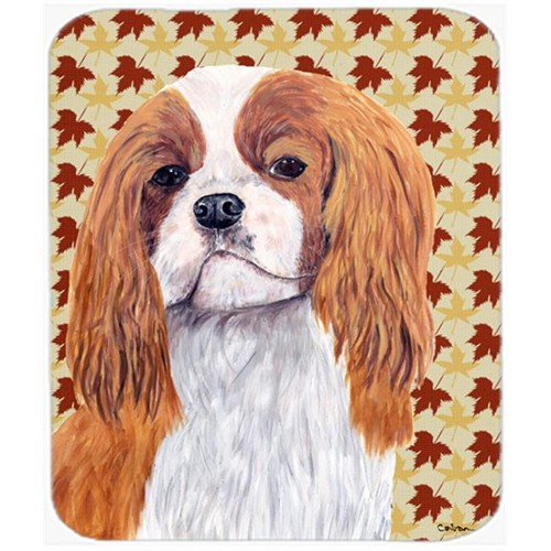 Carolines Treasures SC9232MP 9.5 x 8 in. Cavalier Spaniel Fall Leaves Portrait Mouse Pad Hot Pad or Trivet