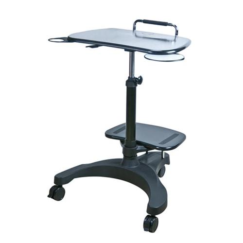 Aidata USA LPD009P Sit Stand Mobile Laptop Workstation