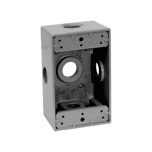 Sigma Electric 14251-5X 1 Gang Service Entrance Outlet Box Five 0.5 in. Holes