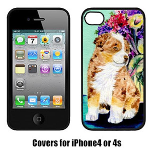 Carolines Treasures SS8312IP4 Australian Shepherd Cell Phone cover IPhone 4