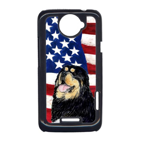 Carolines Treasures SS4039HTCONE USA American Flag With Tibetan Mastiff HTC One X Cell Phone Cover