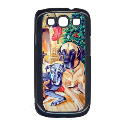 Carolines Treasures 7111GALAXYSIII Harlequin And Blue Great Danes Under The Christmas Tree Galaxy S111 Cell Phone Cover