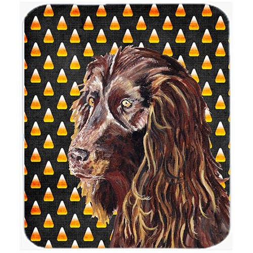 Carolines Treasures SC9532MP 7.75 x 9.25 In. Boykin Spaniel Halloween Candy Corn Mouse Pad Hot Pad or Trivet