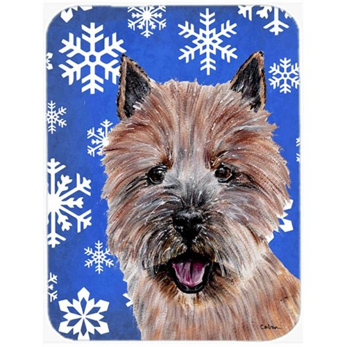Carolines Treasures SC9782MP Norwich Terrier Winter Snowflakes Mouse Pad Hot Pad Or Trivet 7.75 x 9.25 In.