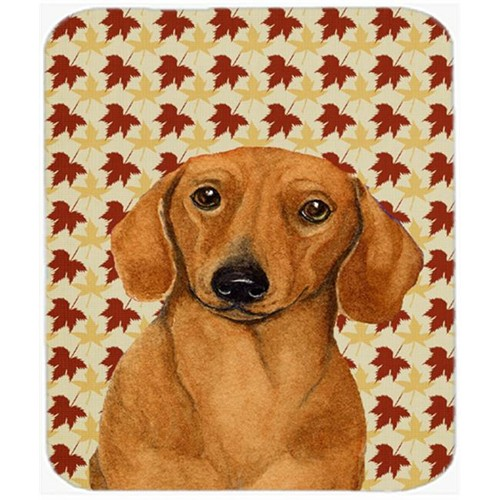 Carolines Treasures LH9087MP Dachshund Fall Leaves Portrait Mouse Pad Hot Pad Or Trivet