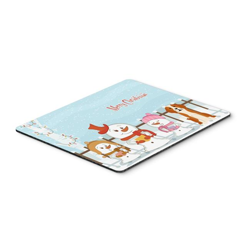 Carolines Treasures BB2441MP Merry Christmas Carolers English Foxhound Mouse Pad Hot Pad or Trivet