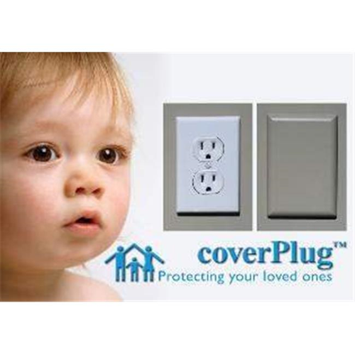 Coverplug WBULK6 Paintable Electrical Outlet Cover - White