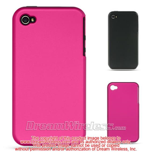 Dreamwireless Skin Case for iPhone 4S; iPhone 4 - Black; Hot Pink