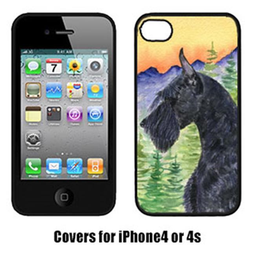 Carolines Treasures SS8256IP4 Schnauzer Cell Phone cover IPhone 4