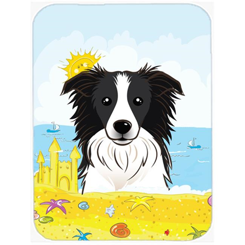 Carolines Treasures BB2109MP Border Collie Summer Beach Mouse Pad Hot Pad or Trivet