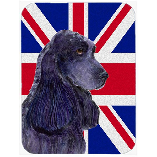 Carolines Treasures SS4913MP 7.75 x 9.25 In. Cocker Spaniel With English Union Jack British Flag Mouse Pad Hot Pad Or Trivet