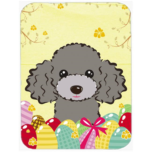 Carolines Treasures BB1941MP Silver Gray Poodle Easter Egg Hunt Mouse Pad Hot Pad or Trivet