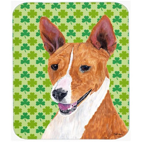 Carolines Treasures SC9307MP Basenji St. Patricks Day Shamrock Portrait Mouse Pad Hot Pad or Trivet