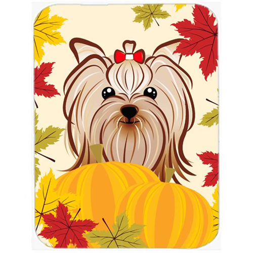 Carolines Treasures BB2010MP Yorkie Yorkshire Terrier Thanksgiving Mouse Pad Hot Pad or Trivet