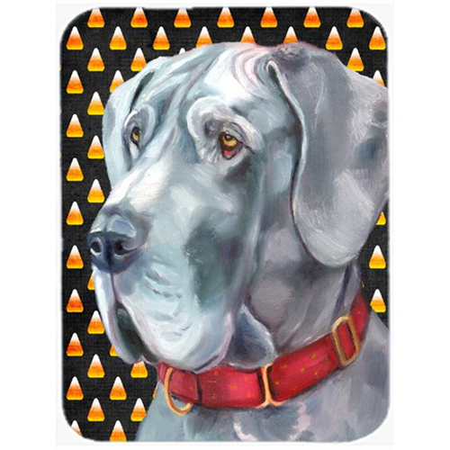 Carolines Treasures LH9549MP Great Dane Candy Corn Halloween Mouse Pad Hot Pad & Trivet