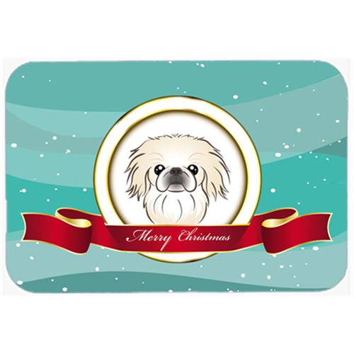 Carolines Treasures BB1531MP Pekingese Merry Christmas Mouse Pad Hot Pad & Trivet