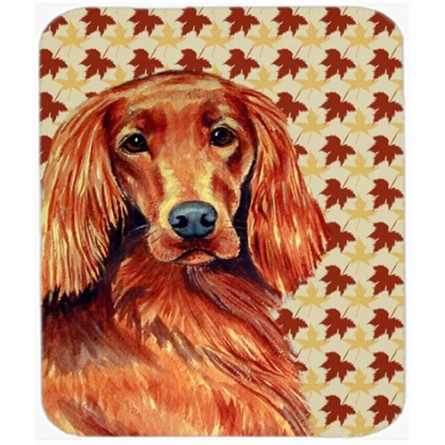 Carolines Treasures LH9119MP Irish Setter Fall Leaves Portrait Mouse Pad Hot Pad or Trivet