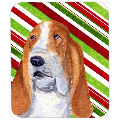 Carolines Treasures SS4597MP Basset Hound Candy Cane Holiday Christmas Mouse Pad Hot Pad Or Trivet