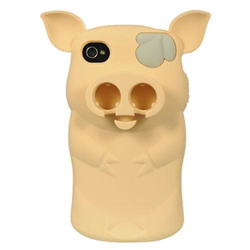 DreamWireless IP-HESCIP4VZPIGPCH Sniffie Piggie High-End Skin Case For iPhone 4S & 4 - Peach