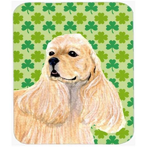 Carolines Treasures SS4453MP Cocker Spaniel St. Patricks Day Shamrock Portrait Mouse Pad Hot Pad Or Trivet