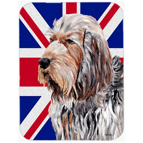 Carolines Treasures SC9879MP 7.75 x 9.25 In. Otterhound With English Union Jack British Flag Mouse Pad Hot Pad Or Trivet