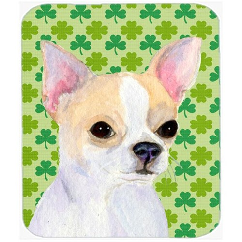 Carolines Treasures SS4405MP Chihuahua St. Patricks Day Shamrock Portrait Mouse Pad Hot Pad Or Trivet