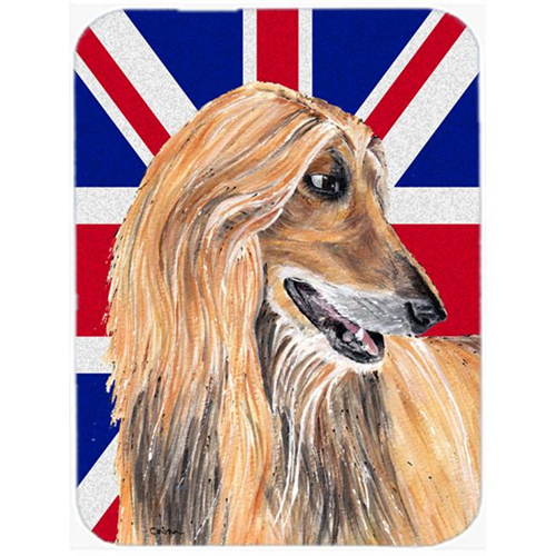 Carolines Treasures SC9814MP 7.75 x 9.25 In. Afghan Hound With English Union Jack British Flag Mouse Pad Hot Pad Or Trivet