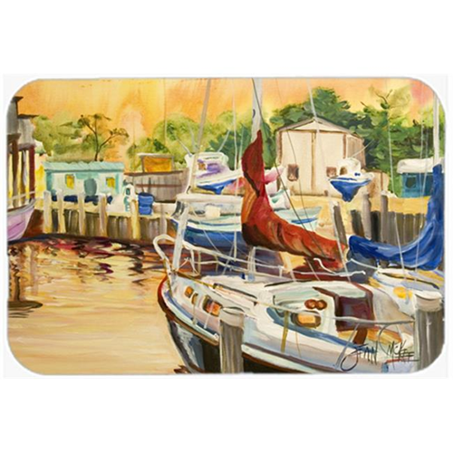 Carolines Treasures JMK1082MP Sunset Bay Sailboat Mouse Pad Hot Pad & Trivet