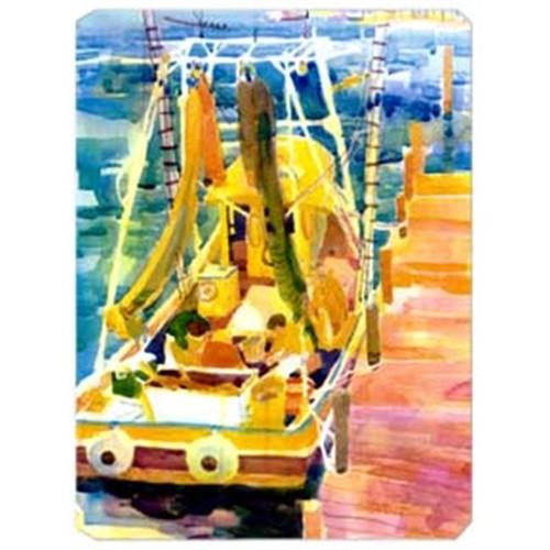 Carolines Treasures 6022MP 9.5 x 8 in. Shrimp Boats Mouse Pad Hot Pad Or Trivet
