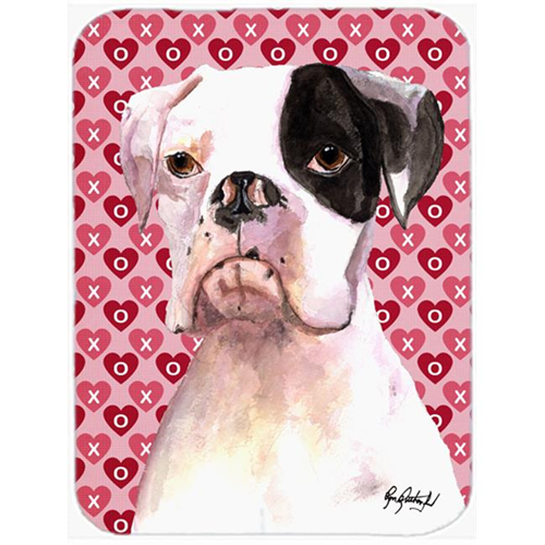 Carolines Treasures RDR3006MP 7.75 x 9.25 In. Cooper Love and Hearts Boxer Mouse Pad Hot Pad or Trivet