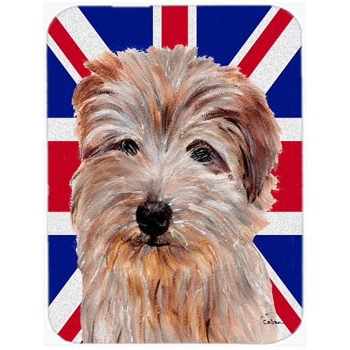 Carolines Treasures SC9875MP 7.75 x 9.25 In. Norfolk Terrier With English Union Jack British Flag Mouse Pad Hot Pad Or Trivet