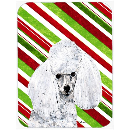 Carolines Treasures SC9797MP White Toy Poodle Candy Cane Christmas Mouse Pad Hot Pad Or Trivet 7.75 x 9.25 In.