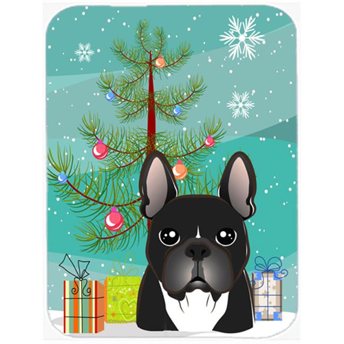 Carolines Treasures BB1599MP Christmas Tree And French Bulldog Mouse Pad Hot Pad & Trivet