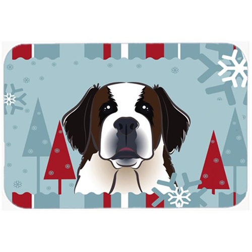 Carolines Treasures BB1742MP Winter Holiday Saint Bernard Mouse Pad Hot Pad & Trivet
